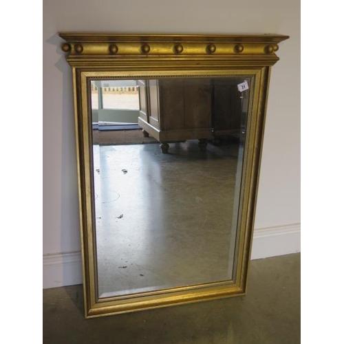 31 - A 19th century style gilt pier mirror, 93cm x 66cm