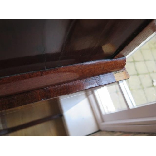 61 - A Victorian mahogany 2-door glazed bookcase over cupboard with a drawer, 202cm tall x 92cm x 49cm, s...