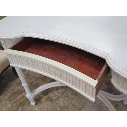 65 - A painted continental dressing table, 133cm tall x 103cm wide x 50cm deep
