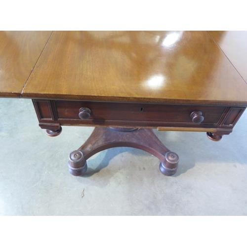 72 - A 19th century mahogany drop leaf Pembroke table with one active drawer, 72cm tall x 103cm x 118cm, ...
