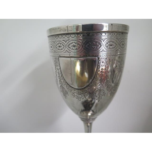 509 - A Victorian silver Trophy cup, Elkington & Co, Birmingham 1867/68, with a later silver presentation ...