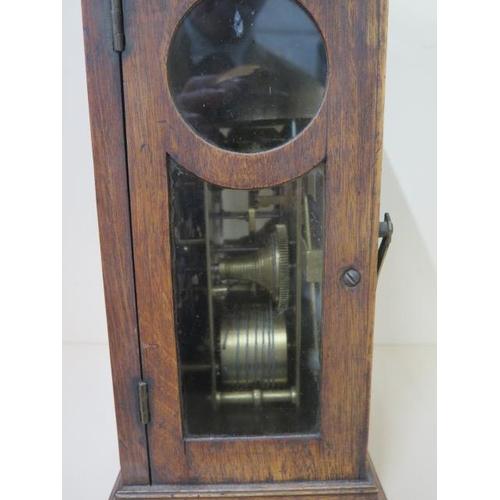 155 - A Georgian 18th century mahogany bracket clock by John Kirkwood of Redpath Scotland with date and bo...