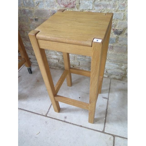 6 - An oak stool, 76cm tall, in good condition