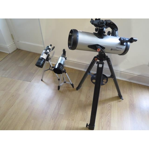5 - A Celestron Starsense Explorer Lt telescope with two lenses, a Lanneret telescope and a similar tele...