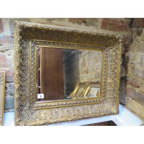 6 - A modern ornate gilt mirror, 50cm x 60cm