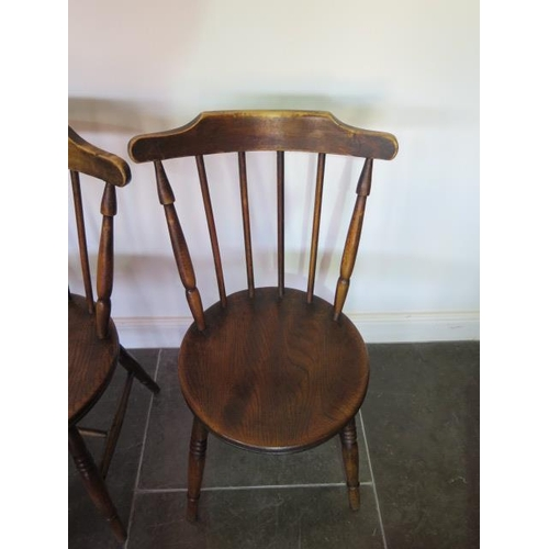 63 - A set of four early 20th century penny seat chairs in generally good usable condition