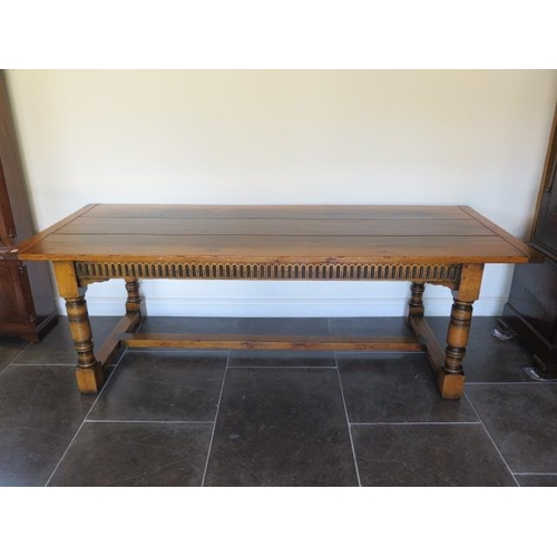 16 - A good oak refectory table by Brights of Nettlebed, 30