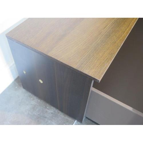 40 - A teak TV unit with a drawer, 40cm tall x 108cm x 40cm