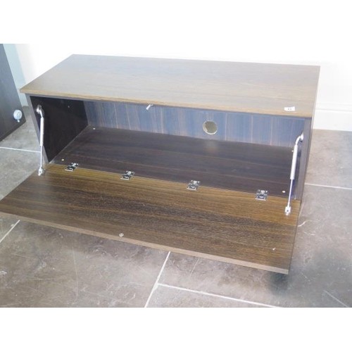 41 - A teak TV unit with a drawer, 40cm tall x 108cm x 40cm