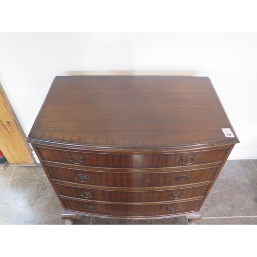 59 - A mahogany bow fronted four drawer chest, 79cm tall x 78cm x 46cm