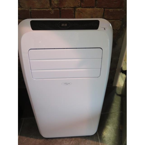3 - A Climachill portable air conditioner model PAC 12K, in working order with remote control