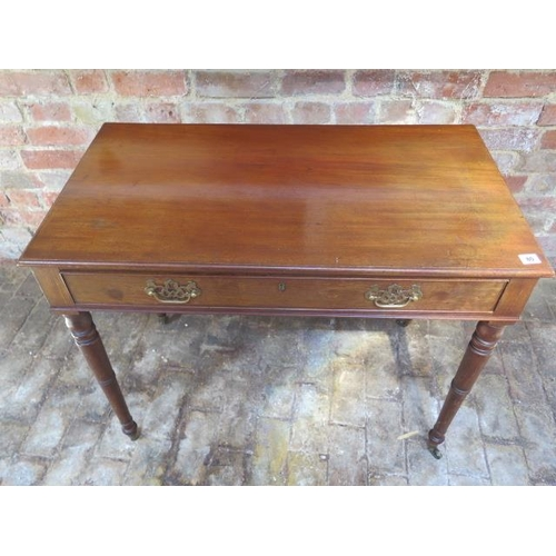 80 - A 19th century walnut side table with a single drawer, 92cm wide