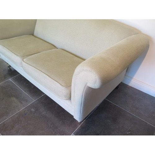 18 - A Laura Ashley two seater sofa, 85cm tall x 195cm 93cm deep, recently cleaned