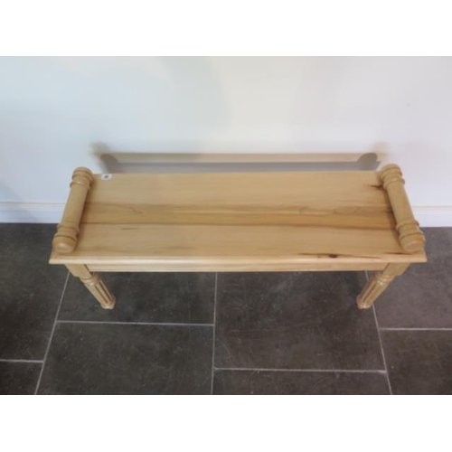 20 - A new solid maple 19th century style window seat made by a local craftsman to a high standard, 52cm ...