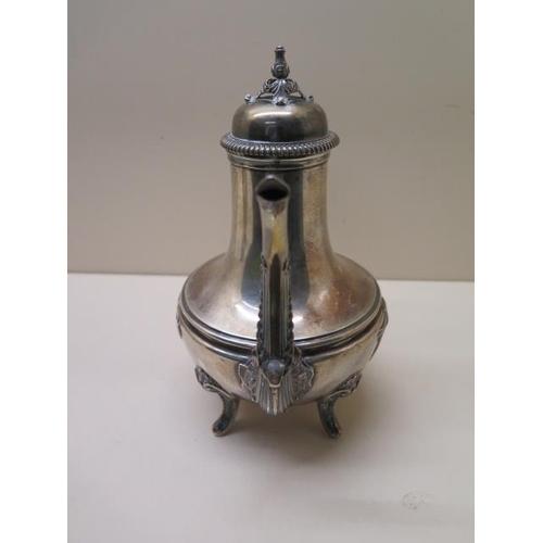518 - A Continental silver coffee pot, 22cm tall, approx 15.2 troy oz, no engraving, generally good condit...