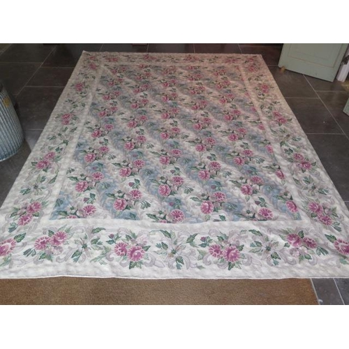 202 - A cream ground fine hand made Abusson style carpet, 2.90m x 2.30m