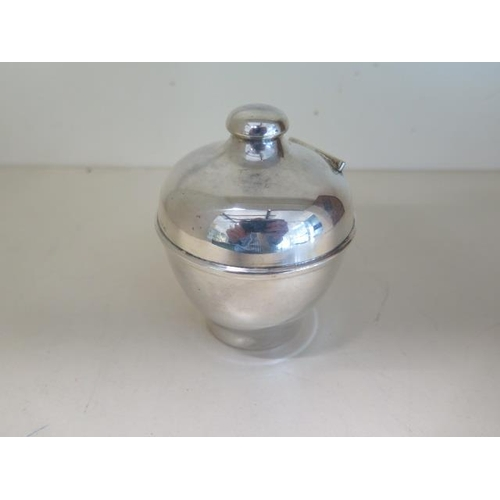502 - An 800 silver money box, 10cm tall, approx 2.3 troy oz, in good condition