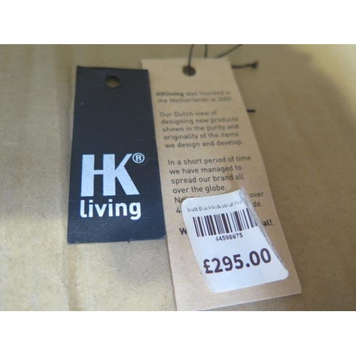 7 - A pair of HK Living new design vintage matt black finish industrial style pendant ceiling lamps, 57c...
