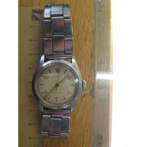 804 - A Rolex Oyster Royal stainless steel mid size manual wind bracelet wristwatch, 31mm case, model 6144...