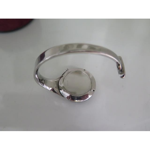 805 - A Georg Jensen stainless steel Torun quartz wristwatch, number 326, boxed, working