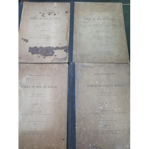 981 - Four volumes for the Egypt Exploration fund with detailed accounts of the excavations within the Val...