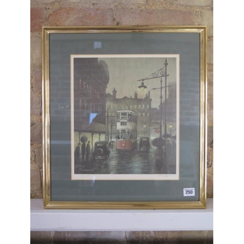 250 - A framed and glazed print by Arthur Delaney, signed in pencil to the margin and numbered 434/435 wit...