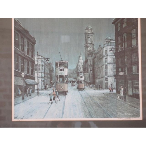 251 - A framed and glazed limited edition print by Arthur Delaney signed in pencil to the margin and numbe...