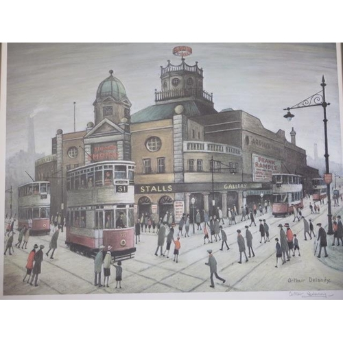 252 - A framed and glazed print by Arthur Delaney signed in pencil to the margin with Arts Guild blindstam...