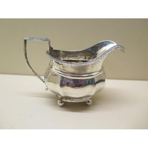 503 - A small silver cream / milk jug, approx 2.5 troy oz, generally good