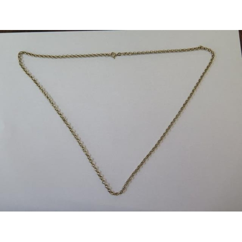 628 - A 9ct yellow gold hallmarked belcher pattern chain, approx 6.2 grams