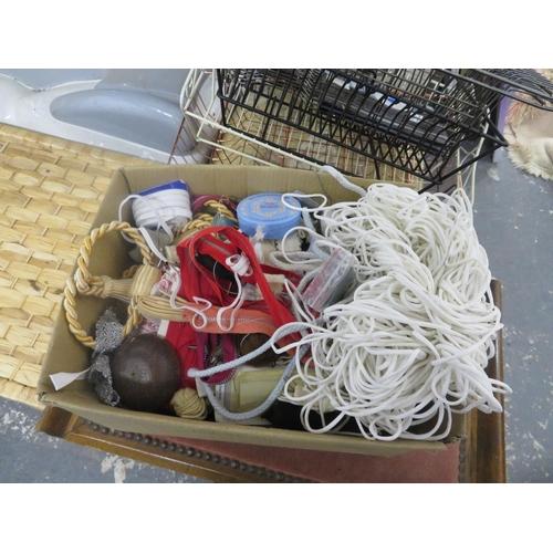 1 - Box of haberdashery items