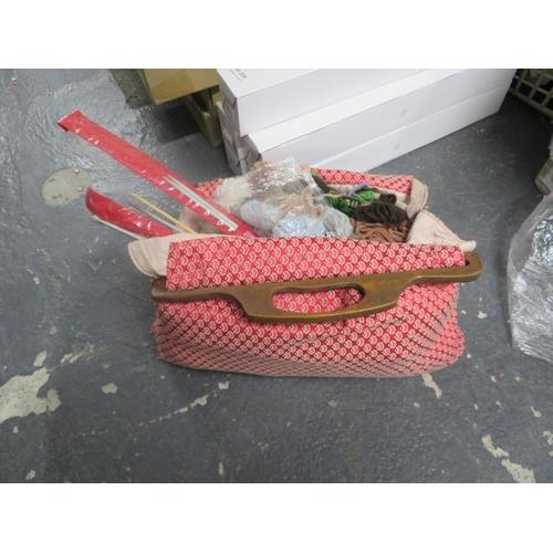 11 - Bag of knitting items