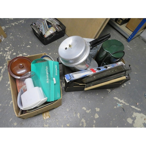 27 - 2 Boxes of kitchen ware