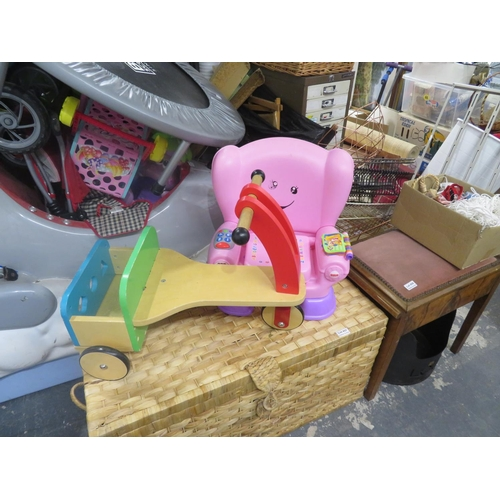 39 - 2 Childrens toys inc a wooden ride on