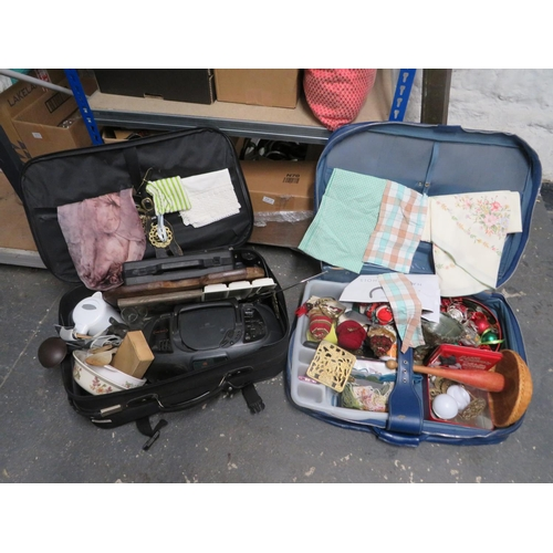 32 - 2 Cases of collectables inc brass