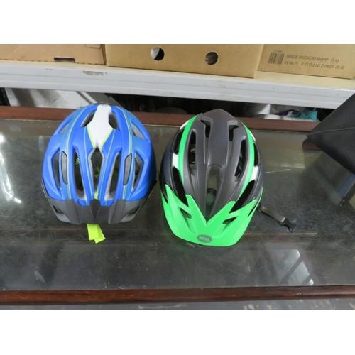 34 - 2 Bike helmets