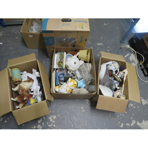 48 - 3 Boxes of mixed pottery
