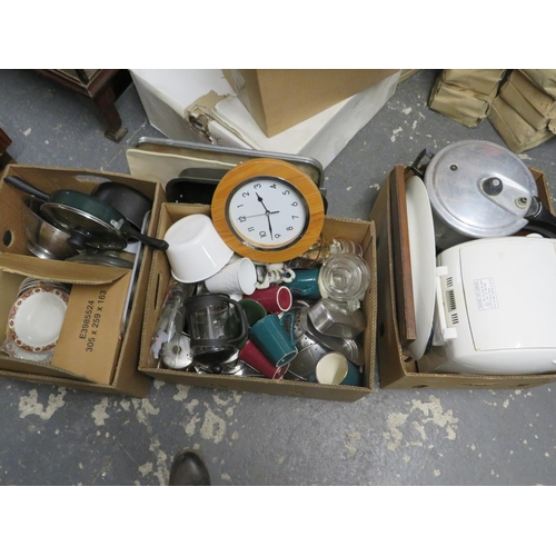 55 - 3 Boxes of kitchen ware