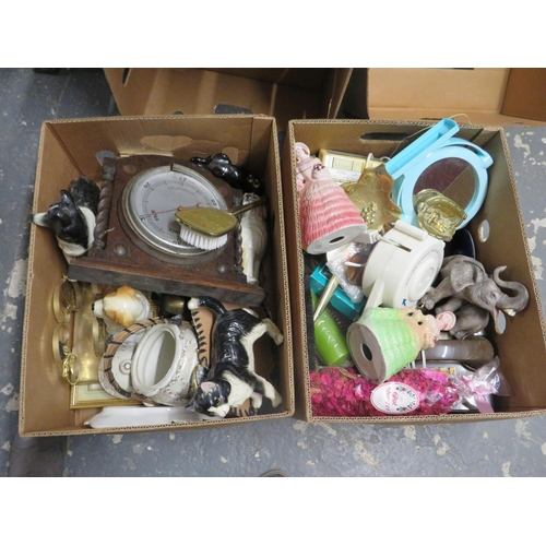 58 - 2 Boxes of mixed pottery and collectables