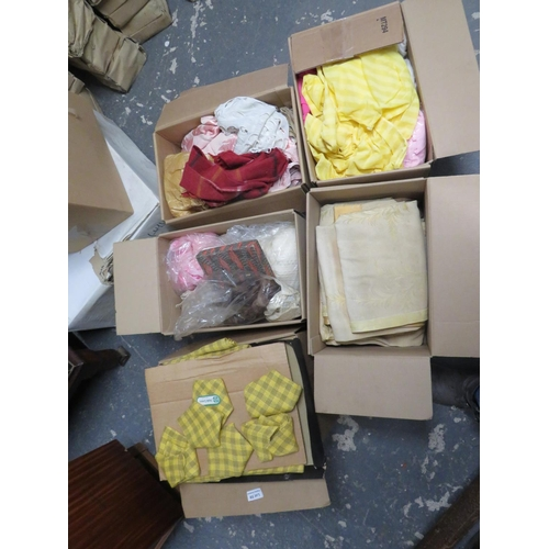 59 - 5 Boxes of linens