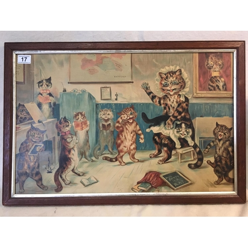 17 - Louiswain Cat Print...