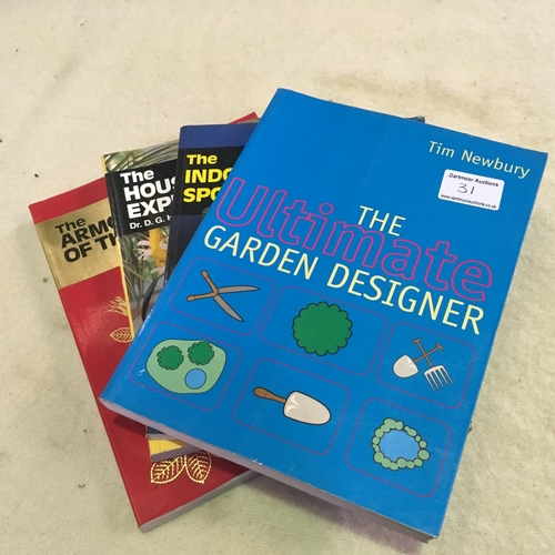 31 - Gardening books - Expert Hessayon series and Garden Design (Newbury)...
