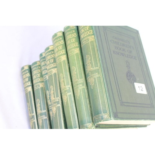 66 - A set of volumes 1-VII of 'Cassells's Children's Book of Knowledge', cloth bound, gilt titles...