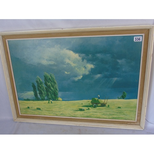232 - 'The Last Bales', by David Shepherd, an original high quality limited edition Boots print from 1960s...