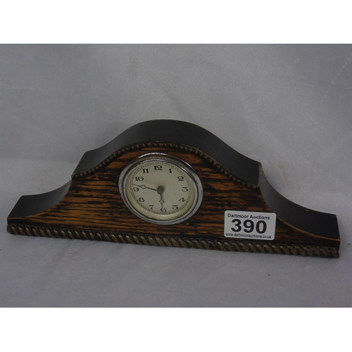 310 - Early C20 wooden mantel clock, A/F...