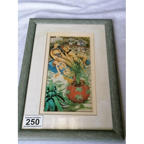 250 - A Beryl Cook print, framed and glazed, 33 x 22 cm...