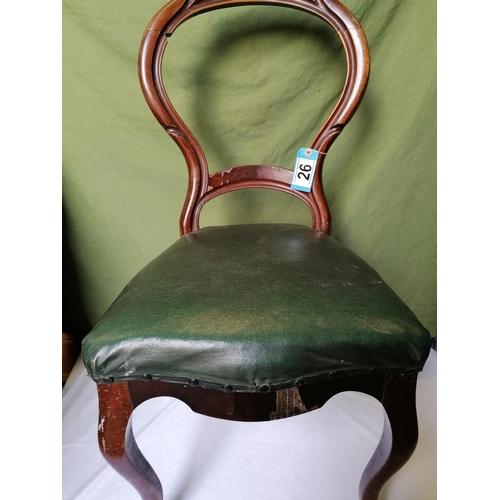 26 - A Victorian mahogany parlour chair...