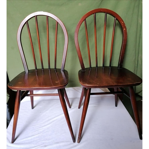 284 - Four mid century dining chairs (two pictured) marked BS KF 1960 3056...