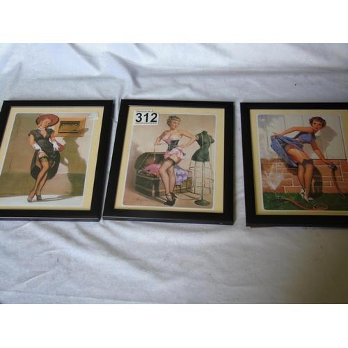 312 - 3 1950s prints by Gil Elvaren...
