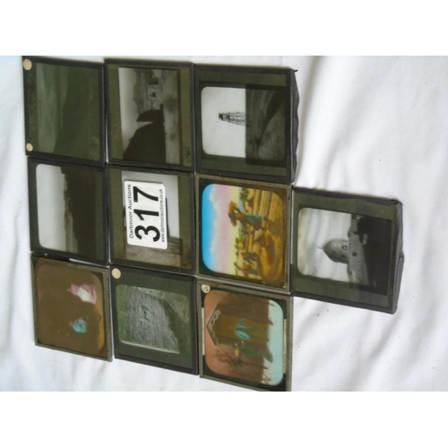 317 - Ten magic lantern slides...